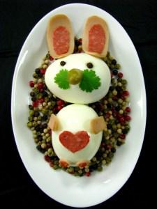 zajaczek z jajek