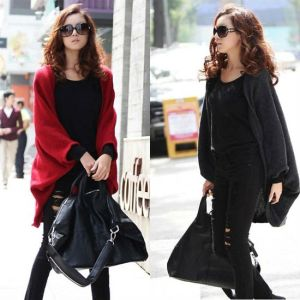 New-Fashion-Women-s-Clothing-Batwing-Cardigans-Casual-Shawl-Knit-Coat-Jacket-Sweater-Woolen-Knitwear-Size